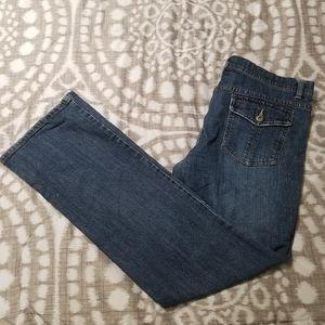 Liz & Co. Size 12 Bootcut Jeans Pocket Flaps